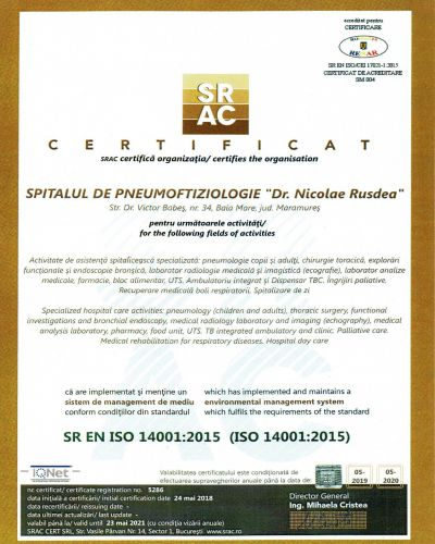 Certificare ISO 14001:2015